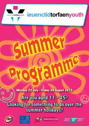 Youth Service Summer Programme - Torfaen Family Information ...
