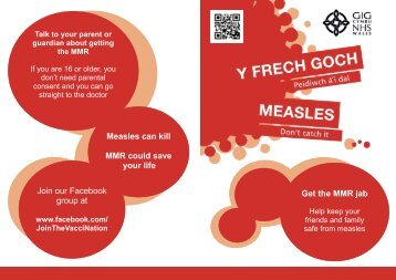 Measles can kill MMR could save your life Join our Facebook group ...