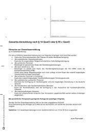 Gewerbe-Anmeldung nach § 14 GewO oder § 55 c GewO - Torgau