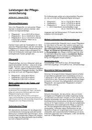 Leistungen der Pflegeversicherung - Torgauer Zeitung