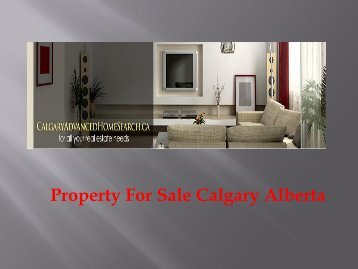 Property For Sale Calgary Alberta