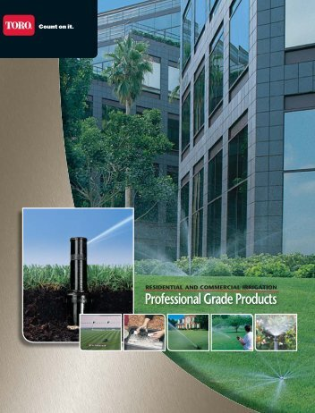 Professional Grade Products - Toro