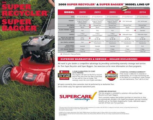 super recycler® super bagger™ super recycler® super bagger - Toro