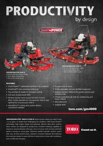 the groundsmaster 4000 d brochure pdf toro?quality\=85 toro 580d wiring diagram wiring diagrams toro 580d wiring diagram at crackthecode.co