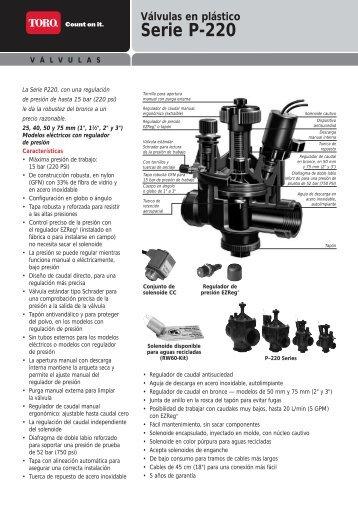 Válvulas en plástico Serie P-220 - Riversa