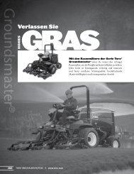 Die komplette Serie der Groundsmaster-Mäher von Toro stellt sicher ...