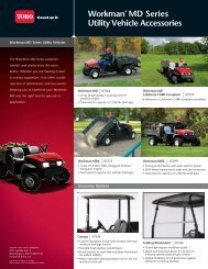Workman® MD Series Utility Vehicle Accessories - Toro
