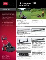 Greensmaster® 3250-D Accessories - Toro