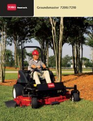 Groundsmaster® 7200 Series Specifications - Toro
