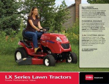 LX series Lawn Tractors - Toro
