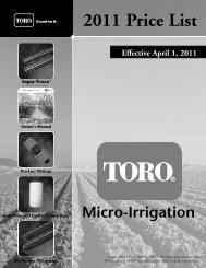 2011 Price List - Toro