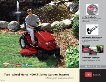Toro® Wheel Horse® 400XT Series Garden Tractors - Doczine