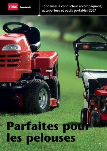 Parfaites pour les pelouses Tondeuses à conducteur ... - Toro