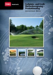 Golfplatz- und Groß- flächenberegnung – Produktkatalog - Toro