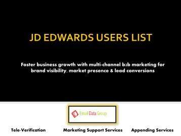 Get in touch with niche customers with JD Edwards Customer List