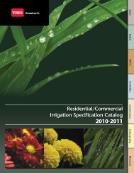 Residential/Commercial Irrigation Specification Catalog 2010 ... - Toro