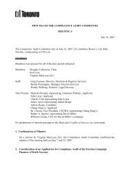 MINUTES OF THE COMPLIANCE AUDIT ... - City of Toronto