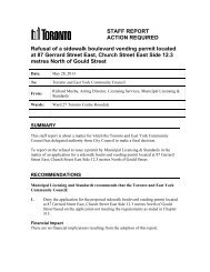 TE25.42 - Staff Report - 87 Gerrard St E - Boulevard ... - City of Toronto