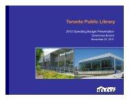 Downsview Branch Presentation (PDF) - Toronto Public Library