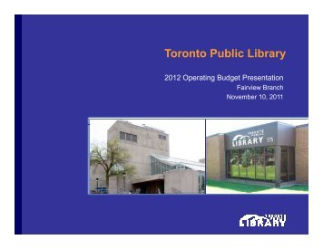 Fairview Branch Presentation (PDF) - Toronto Public Library