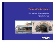 Lillian H. Smith Branch Presentation (PDF) - Toronto Public Library