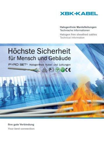 Halogenfreie Mantelleitungen/Halogen free sheathed cables