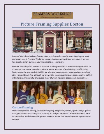 Picture Framing Brookline