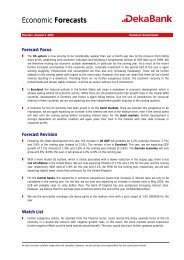 Economic Forecasts - Dekabank