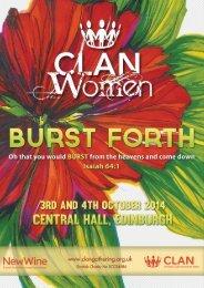 CLAN Women 2014 Programme