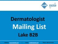 Dermatologist Email List is the most accurate and reliable database globally