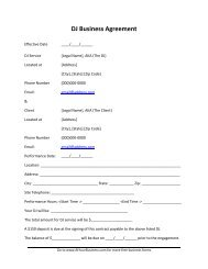 DJ Business Agreement