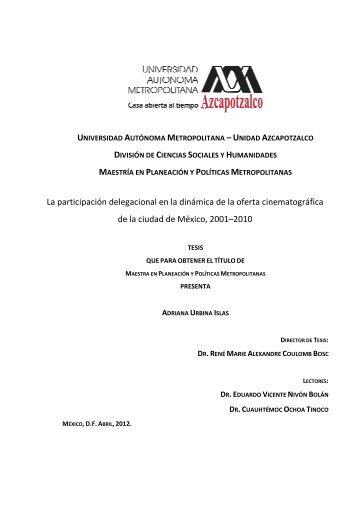 Oferta Cinematográfica Delegacional 2001-2010