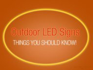 Outdoor LED Sign Company in Kansas City – Things to Know!