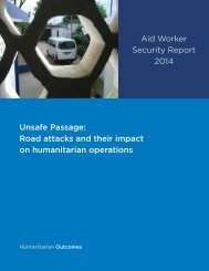 Aid Worker Security Report 2014