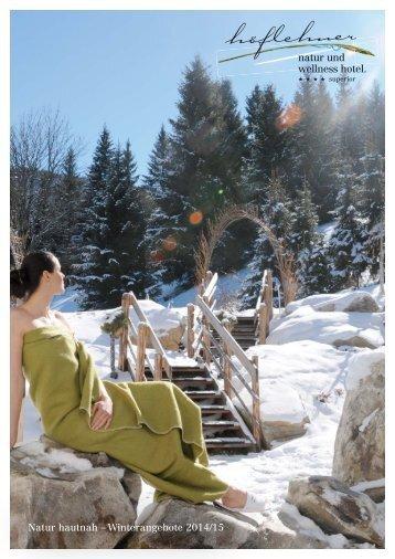 Natur hautnah – Winterangebote 2014/15