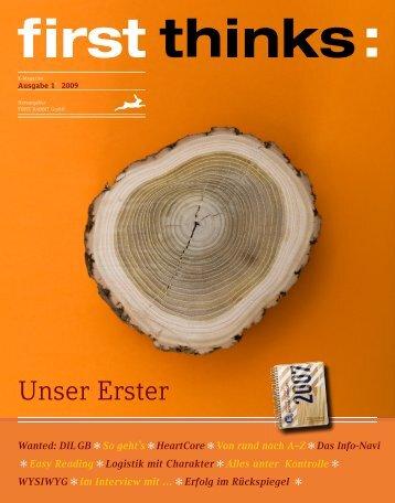 first thinks: Unser Erster - First Rabbit GmbH