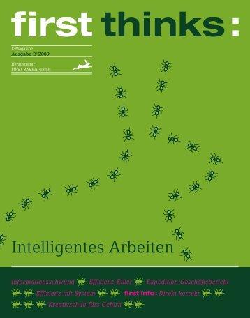 first thinks: Intelligentes Arbeiten - First Rabit GmbH