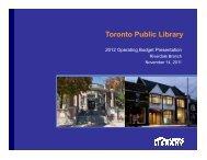 Riverdale Branch Presentation (PDF) - Toronto Public Library