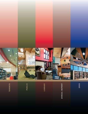 Toronto Public Library Annual Report 2005