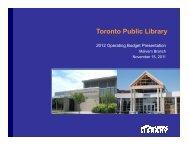 Malvern Branch Presentation (PDF) - Toronto Public Library