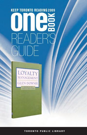 Download One Book Reader's Guide (PDF) - Toronto Public Library