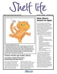 Shelf Life Vol. 4 Num.7 September 2004 - Toronto Public Library