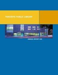 Annual Report 2003 - Toronto Public Library