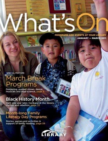 March Break Programs - Toronto Public Library