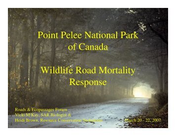 Point Pelee National Park of Canada Wildlife Road ... - Toronto Zoo