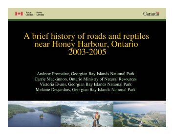 A brief history of roads and reptiles near Honey ... - Toronto Zoo