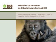 Wildlife Conservation and Sustainable Living 2011 PDF - Toronto Zoo