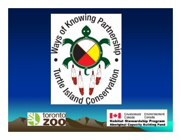 Ways of Knowing Partnership - Toronto Zoo