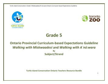 Grade 5 Expectations with subject & strand - Toronto Zoo