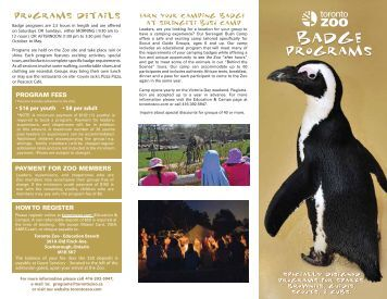 Information Brochure - Toronto Zoo